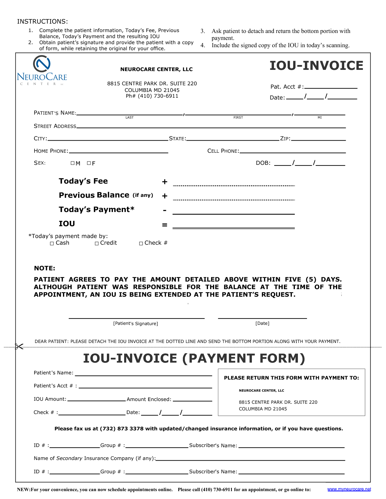 Iou form template invitation templates i o u forms for Iou letter template