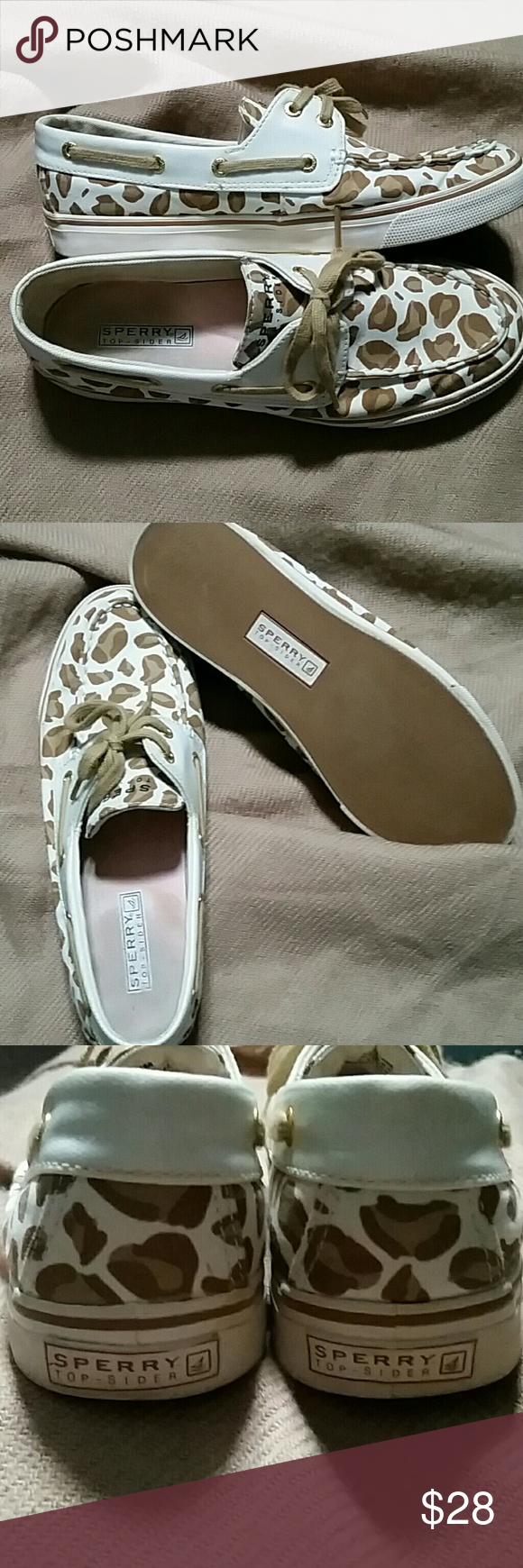 Sperry Top - Sider Cheetah print loafers by Sperry.  Pre-owned, but great condition, no stains or rips only inside wear shown. Sperry Top-Sider Shoes Flats & Loafers