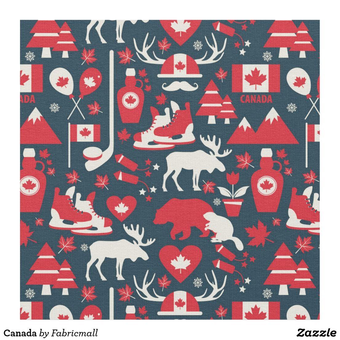 Canada Fabric Fabric patterns, Canadian christmas, Fabric