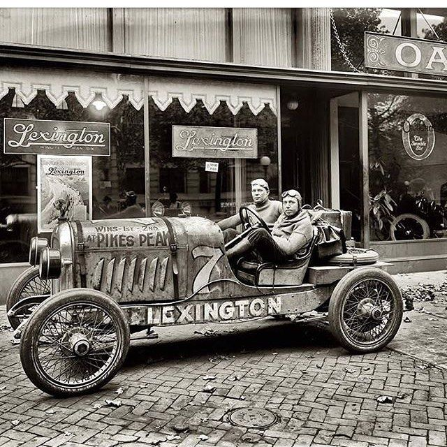 #Vintage #BlackandWhite #Photograph #WayBackWhen #TheWayWeWere #Motorsport #Engineering #Vehicle #Racing #Mechanic - one of two vehicles built by the Lexington Motor Company that endured the Pikes Peak hill climb. Circa 1920.