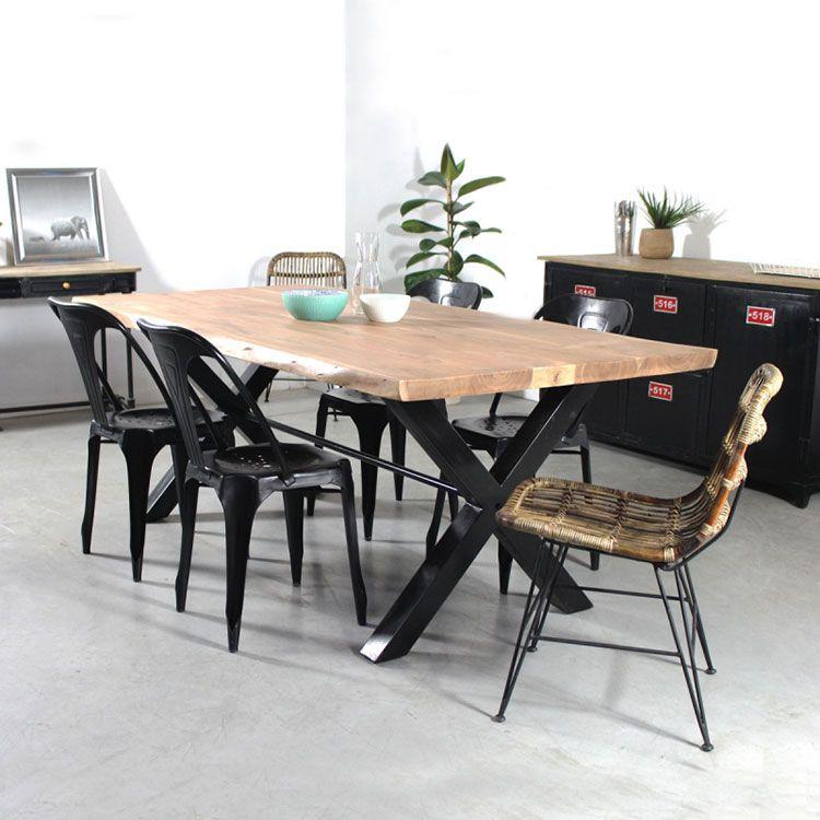 Table Bois Metal Design: Table Plateau Bois Pied Métal : Quel Modèle Choisir
