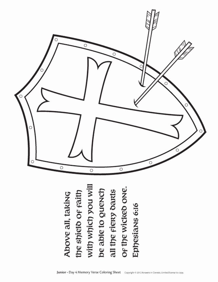 Shield Of Faith Coloring Page Best Of Shield Faith