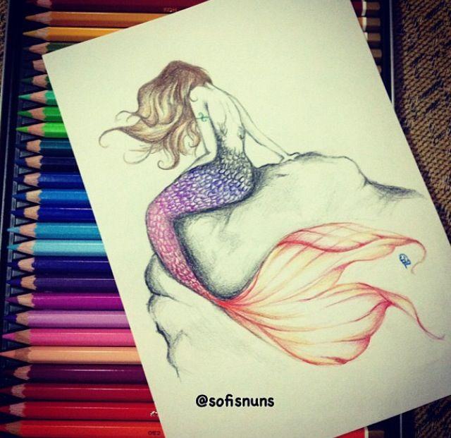 Mermaid Sketch Realistic Mermaid Drawing Mermaid Drawings