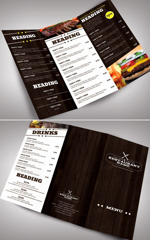 Restarunt Brochure | 30 Inspired Restaurant Menu Brochure Designs You Must See Pinterest