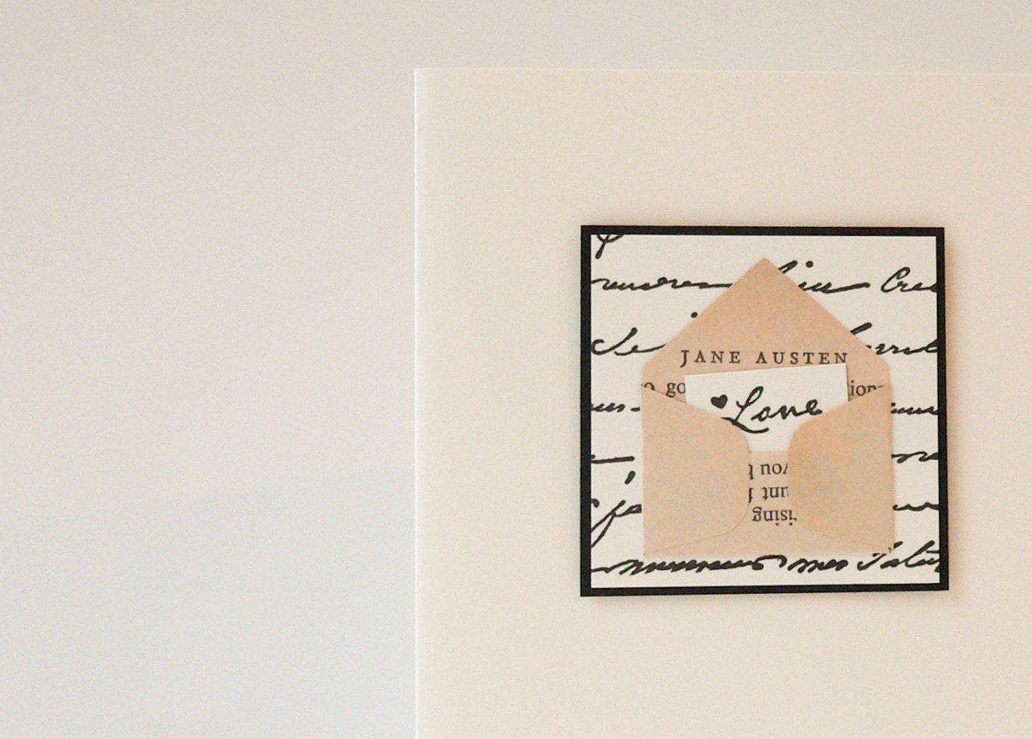 Jane Austen Love Letter  Pride And Prejudice Handmade Card