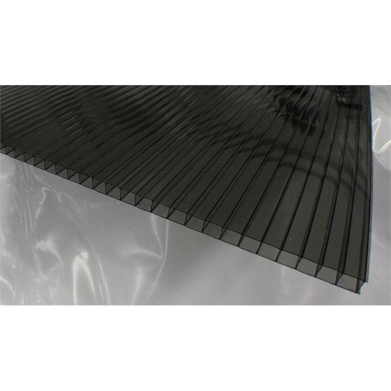 Suntuf Sunlite 8mm X 610mm X 2 4m Solar Grey Twinwall Polycarb Roofing Roofing Solar Wall Cladding