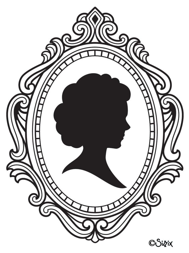 Cameo Frames Drawing Image Vector Clip Art