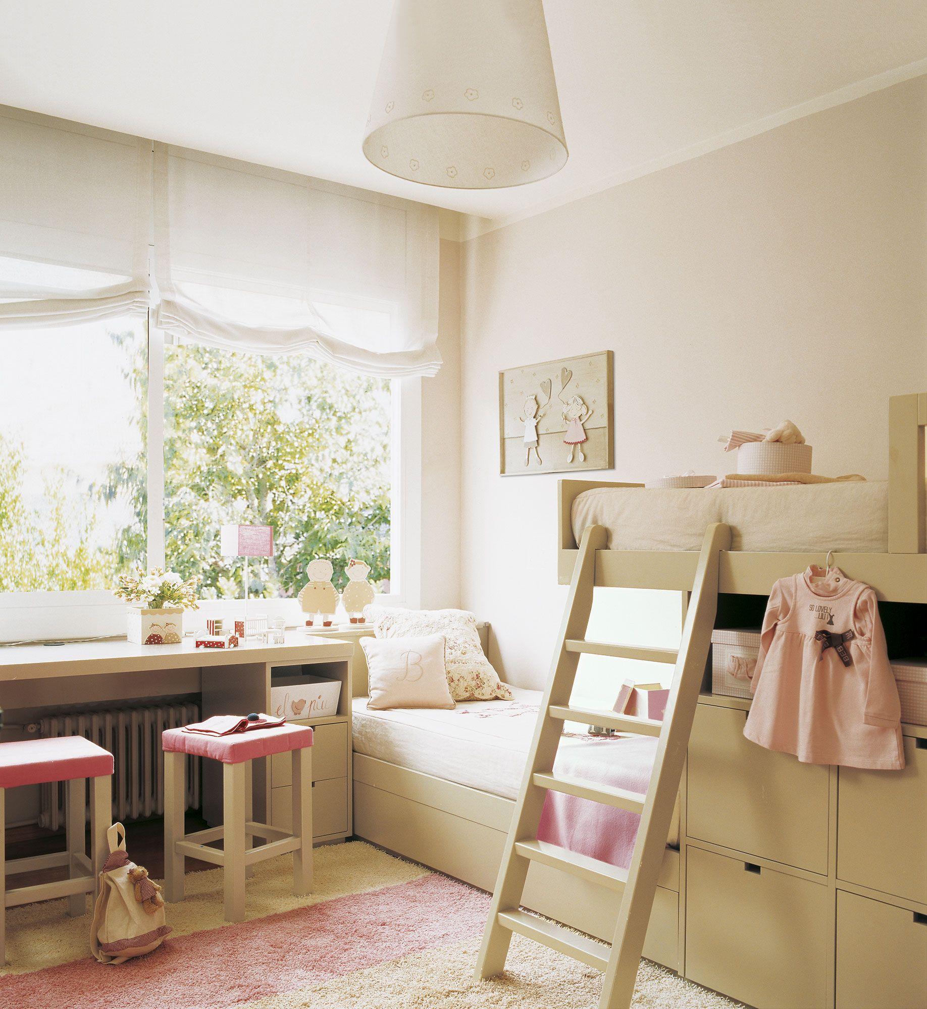 Habitaci n infantil con litera tipo tren habitaciones - Habitacion con litera ...