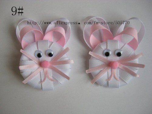No directions, but look closely...it can be done!  Cute for barrettes or a headband.