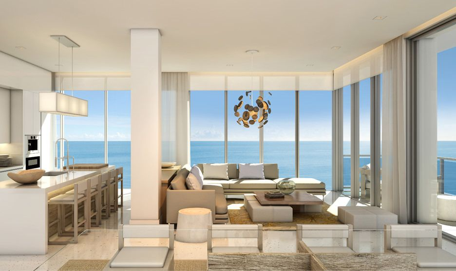 1 Hotel Homes South Beach Miami Residential Apartments Living Room