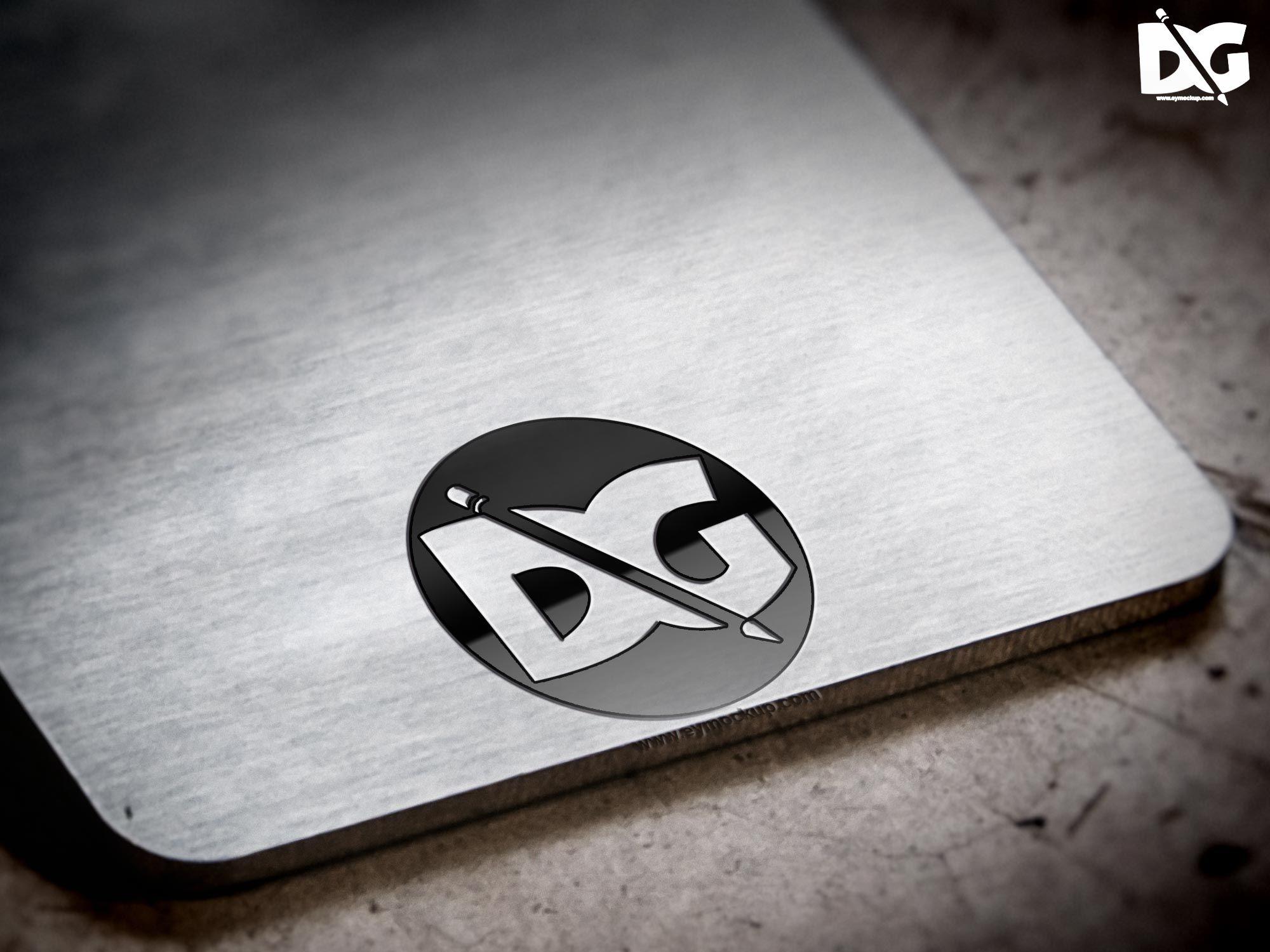 Free Metal Plate Surface Logo Mock Up Free Logo Mockup Mockup Free Psd Logo Mockup