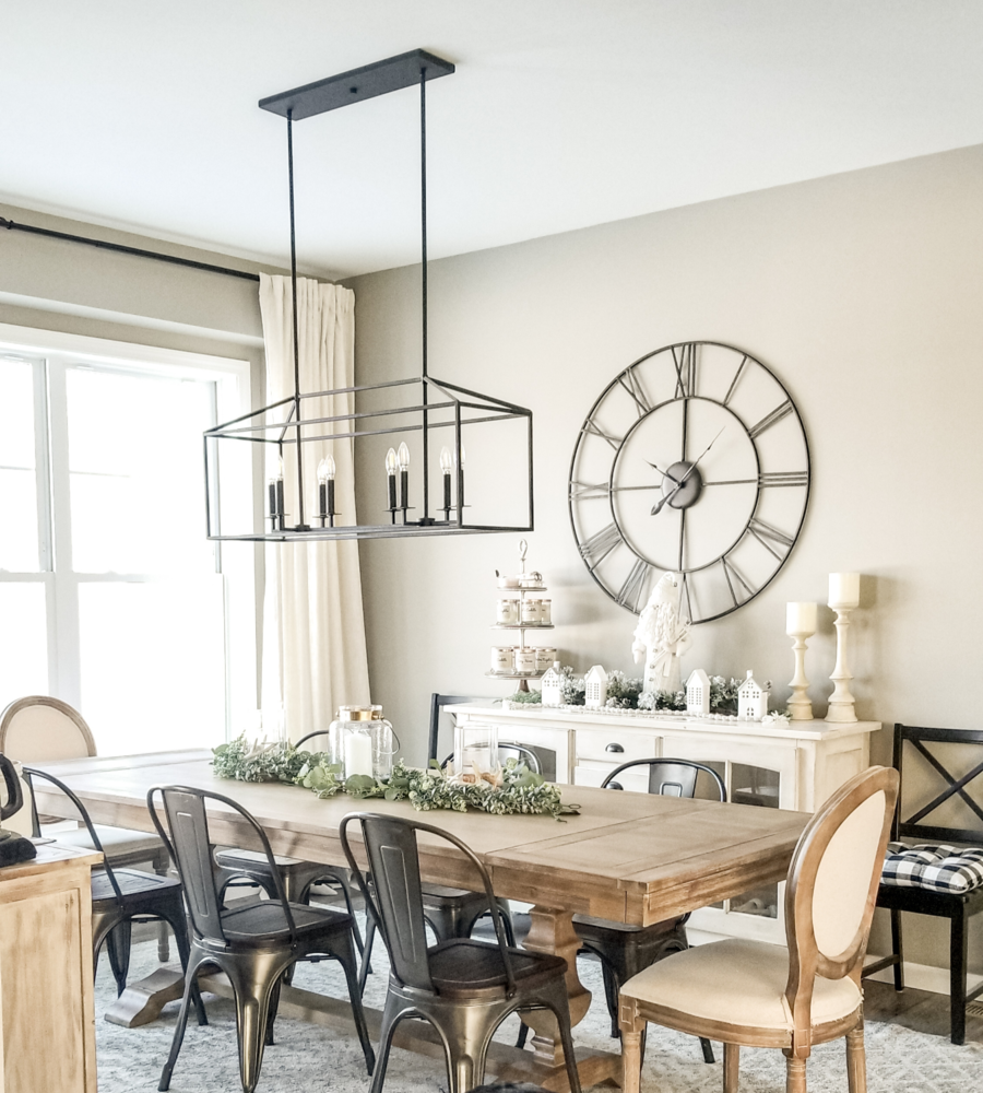 Bradding Shadow Gray Extension Dining Table