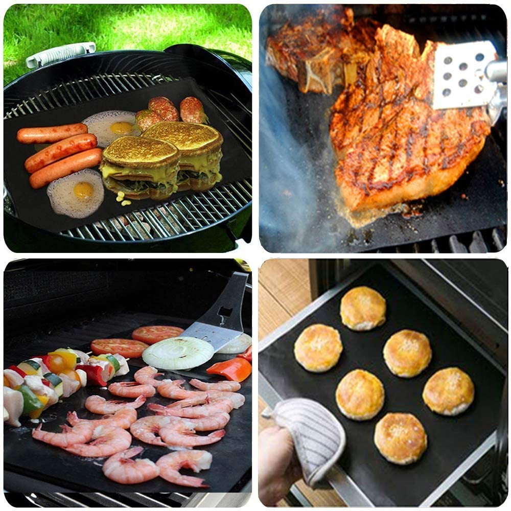 Amazon Com Gqc Bbq Grill Mat Non Stick Cooking Mat Teflon Reusable Barbecue Baking Mat For Electric Grill Ga In 2020 Gas And Charcoal Bbq Cooking Mat Bbq Grill Mats
