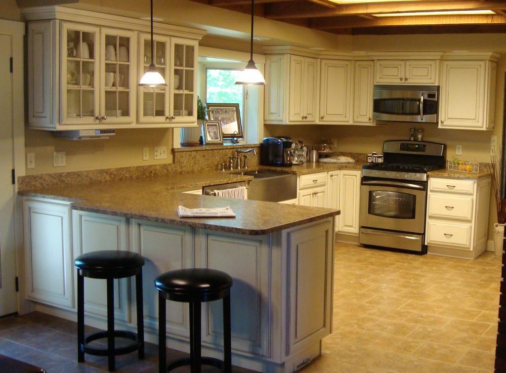 Kitchen ideas | Kitchen remodel | Pinterest | Antique white cabinets ...