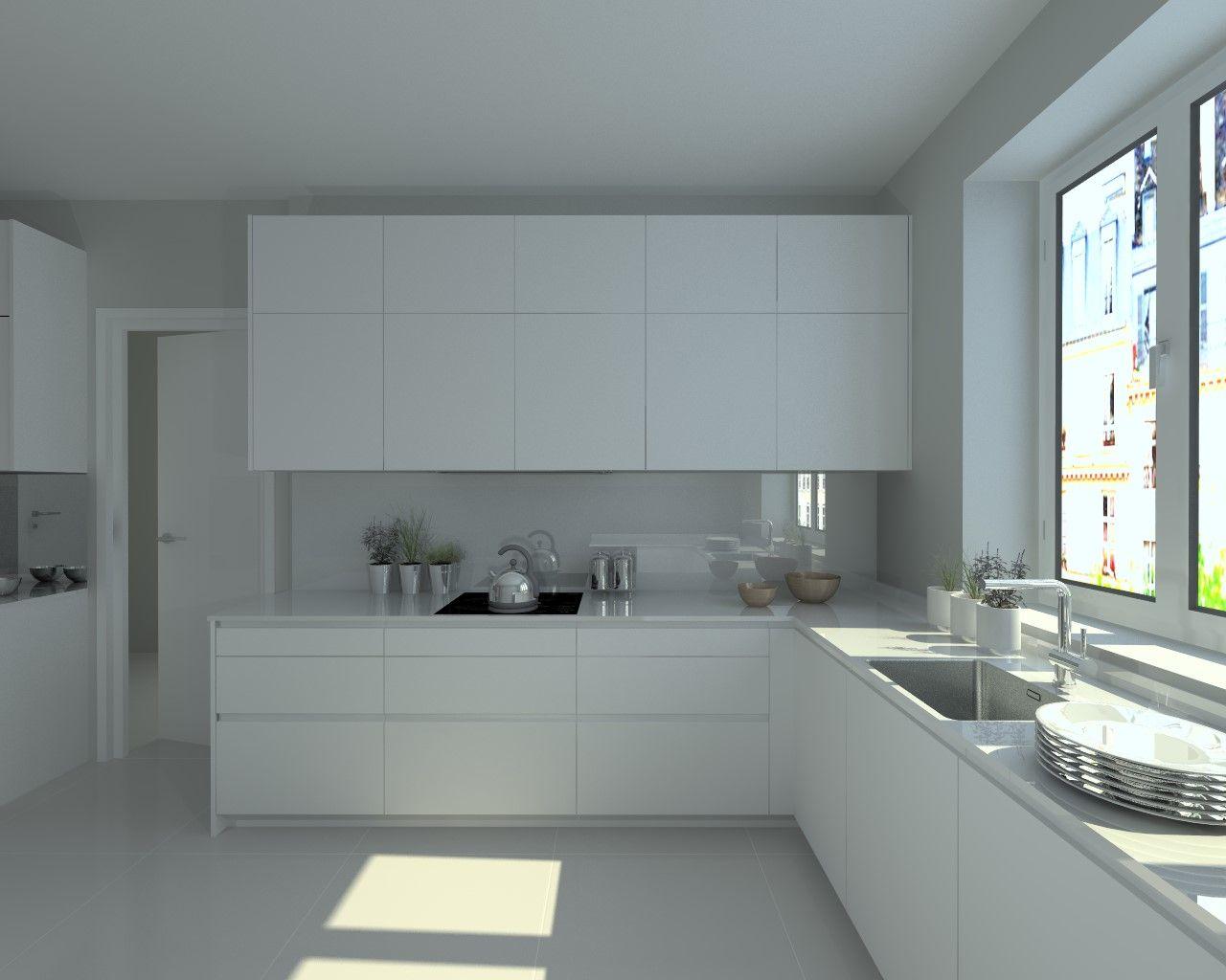 Modelo Line E Blanco | Encimera Granito | Cocinas | Pinterest ...