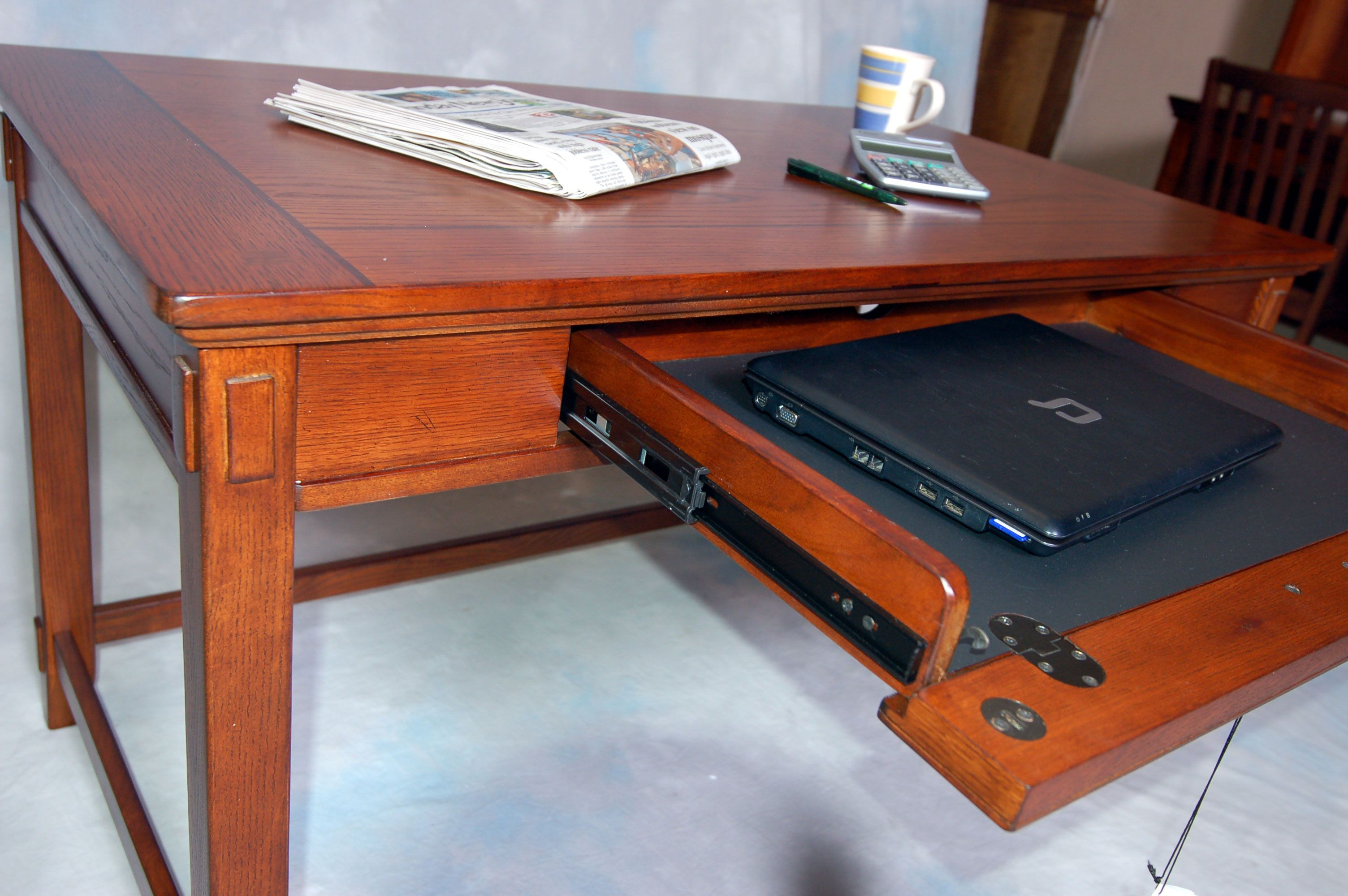 Computer Desk Clearance | ... Oak Mission Style Student Office Computer Desk Writing Table | eBay