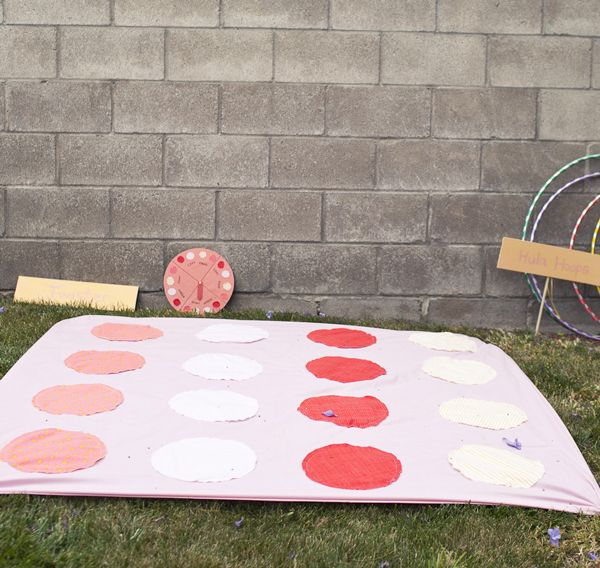 DIY fabric twister game | A Subtle Revelry