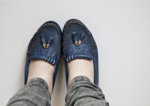 Vintage Blue Loafers
