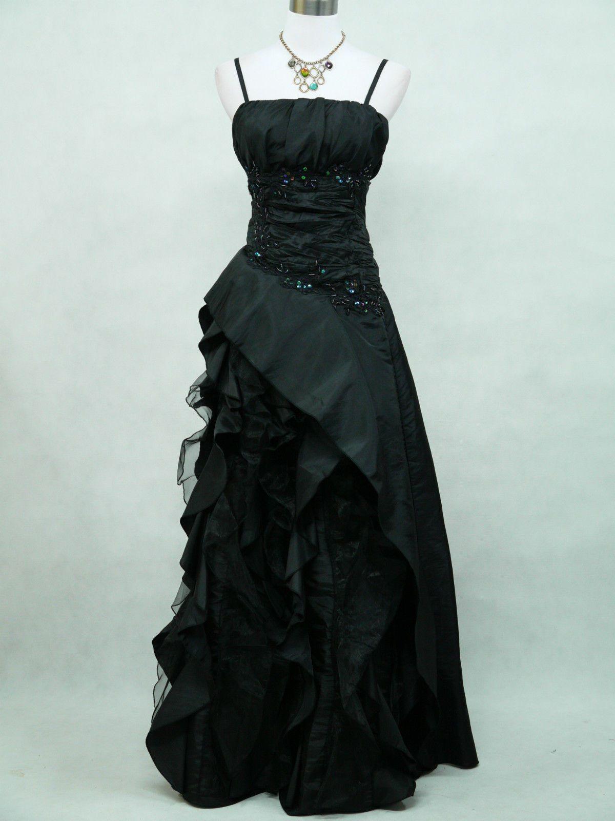 Cherlone plus size black long ballgown wedding evening bridesmaid