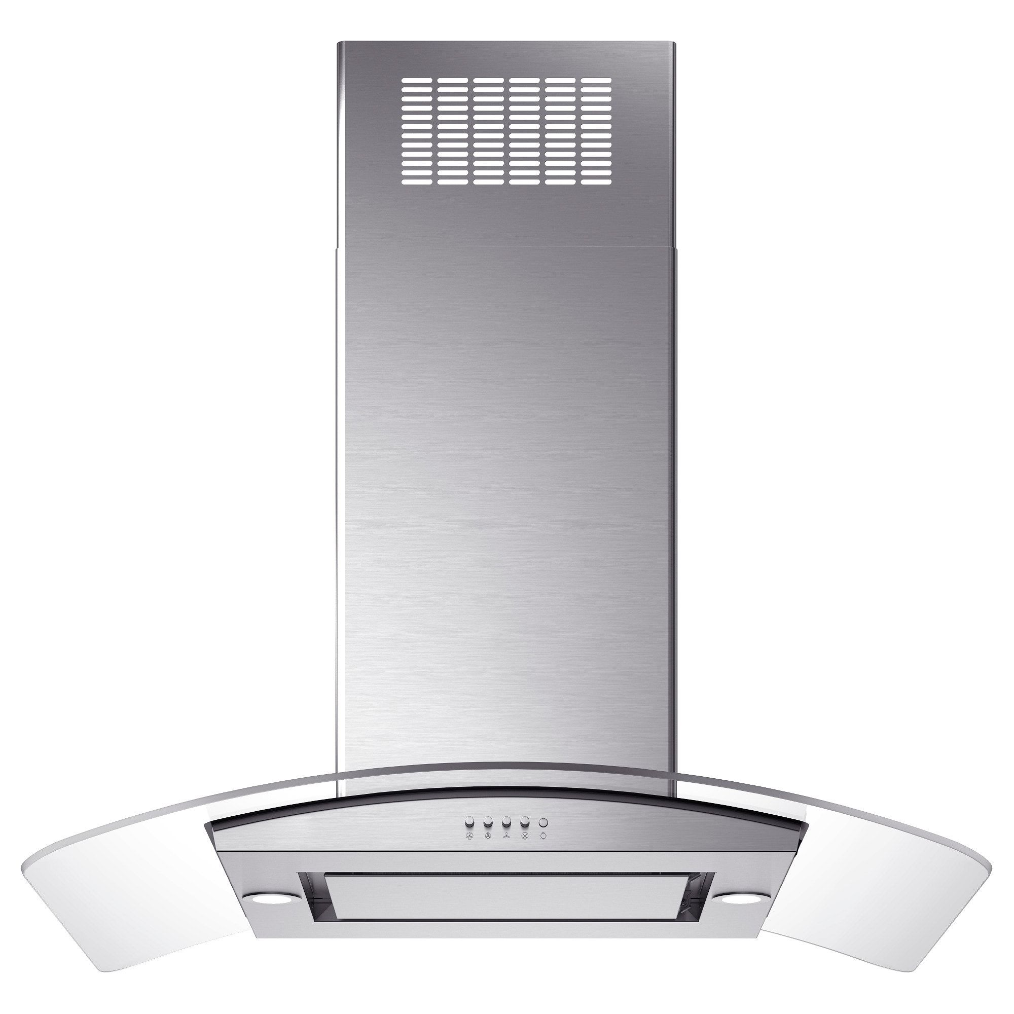 Oberoende Ceiling Mounted Extractor Hood Stainless Steel Glass