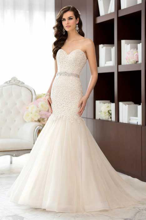 vestidos de novia estilo sirena con pedreria y encaje - buscar con