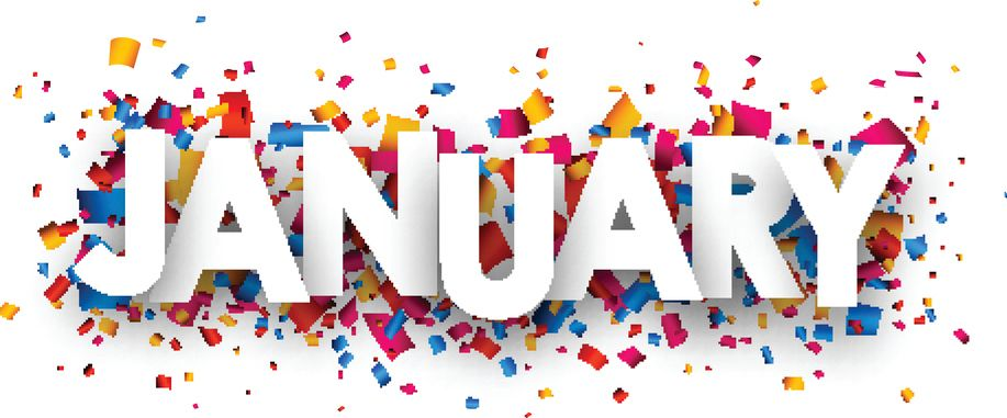 Free January Clipart   Confetti sign, Confetti background ...