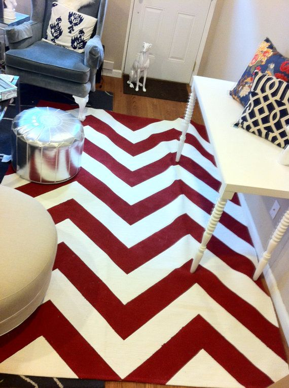Chevron Rug Custom Painted From Etsy Arborroad Er