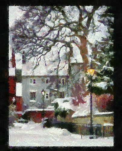 Church walk - Monet