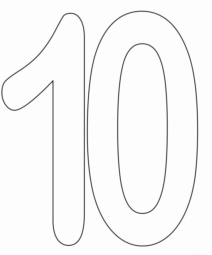 24 Number 10 Coloring Page In 2020 Coloring Pages Coloring