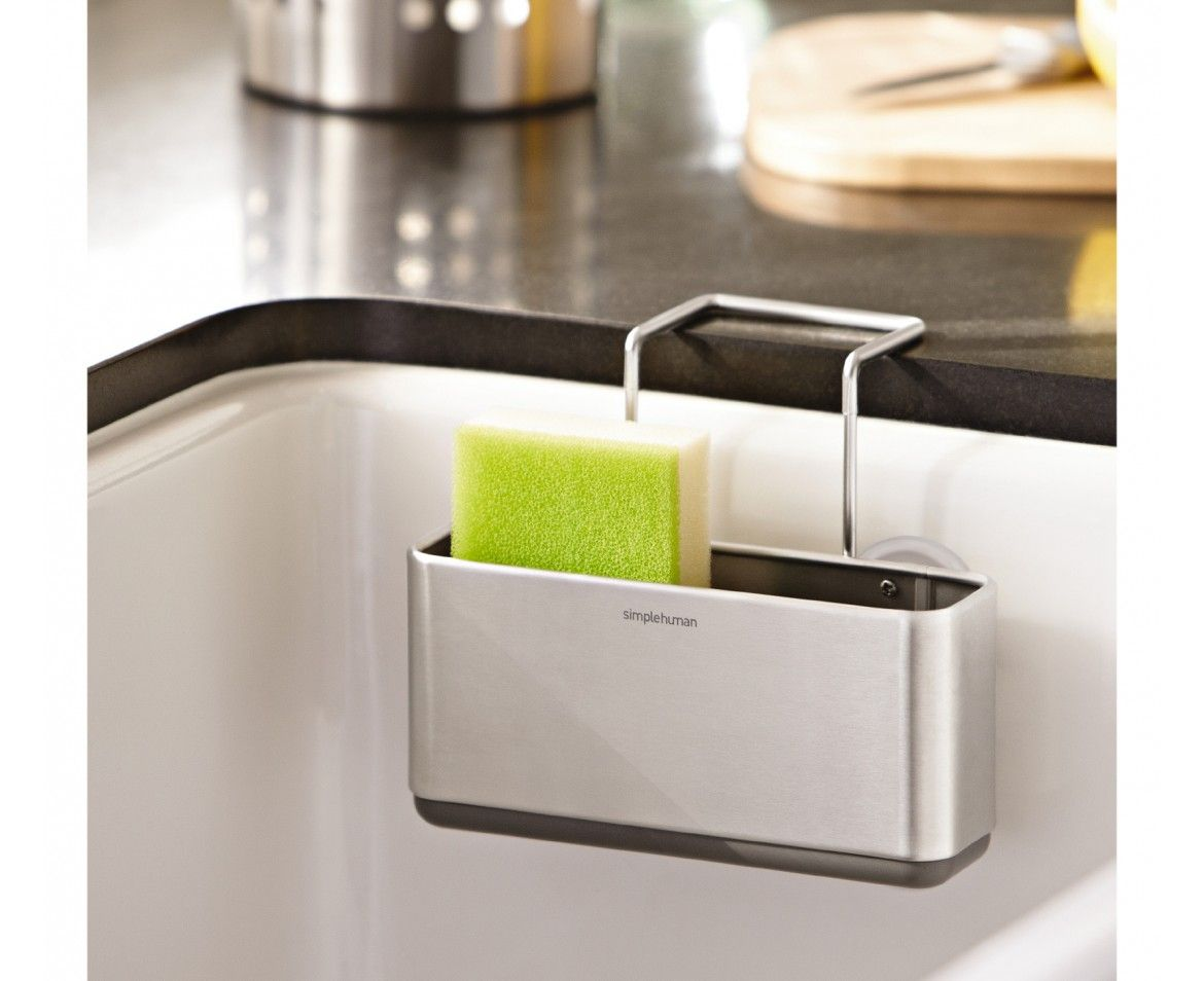 The simplehuman slim sink caddy keeps your sink area neat and ...