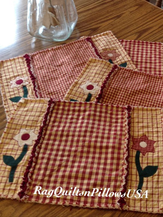 Country Placemats, Quilted Placemats, Homespun Placemats ...