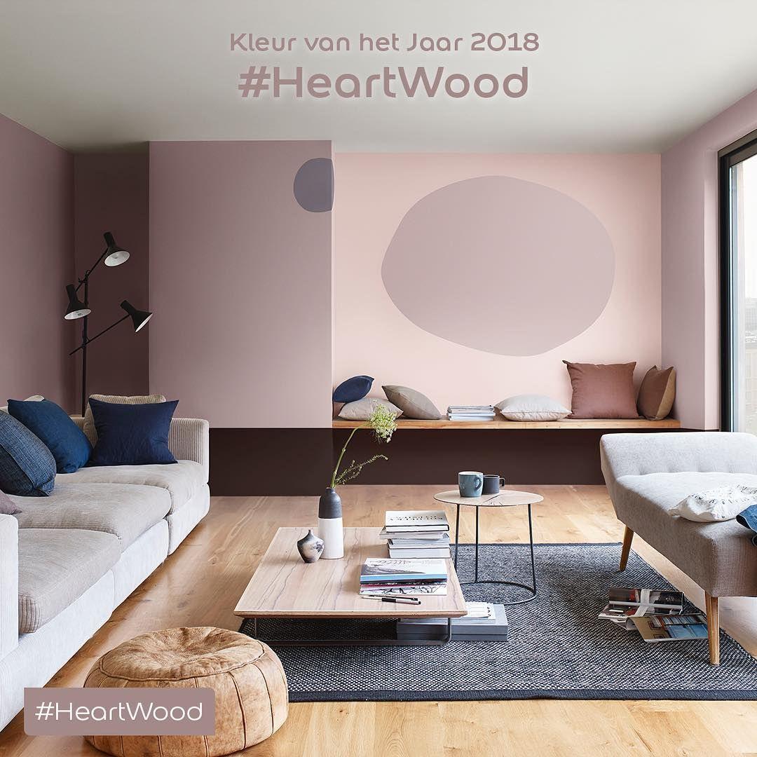 HeartWood kleur van het jaar 2018 Flexa  kleuren 2018