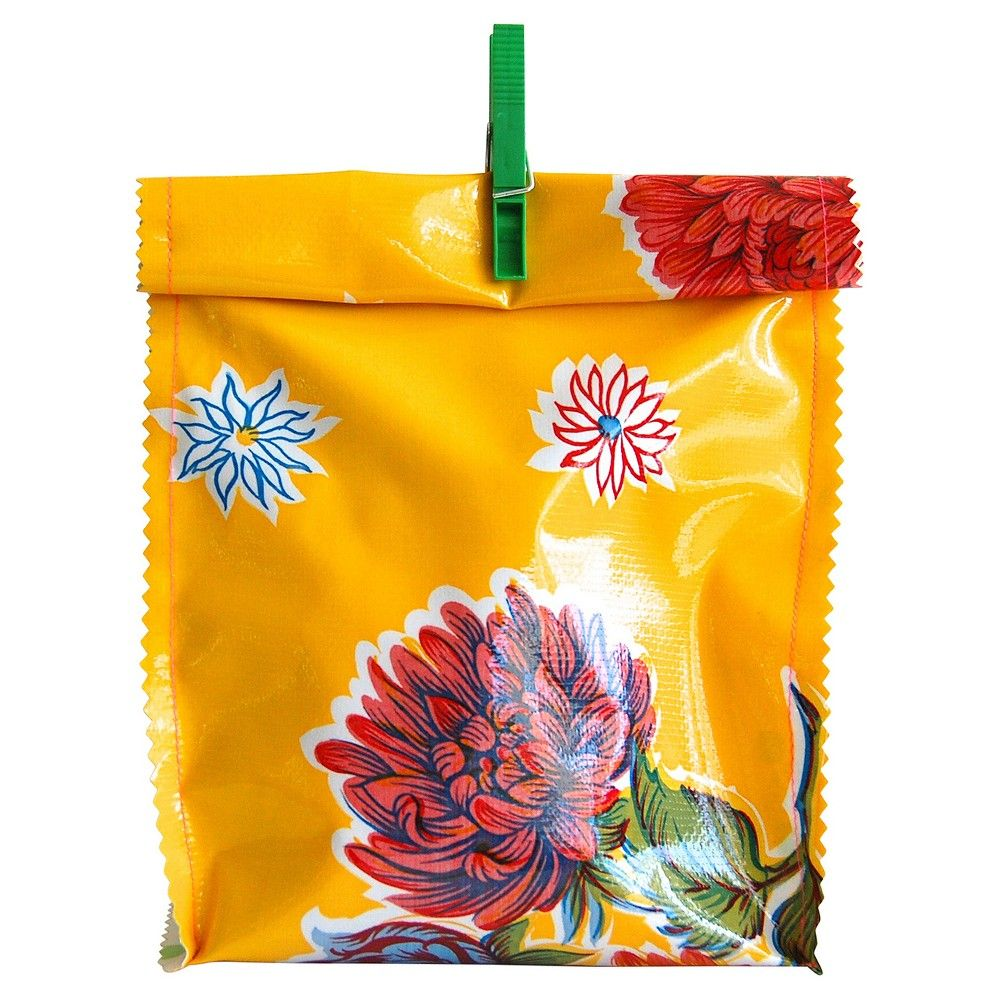 Mums Oilcloth Lunch Bag Yellow ScoutMob,