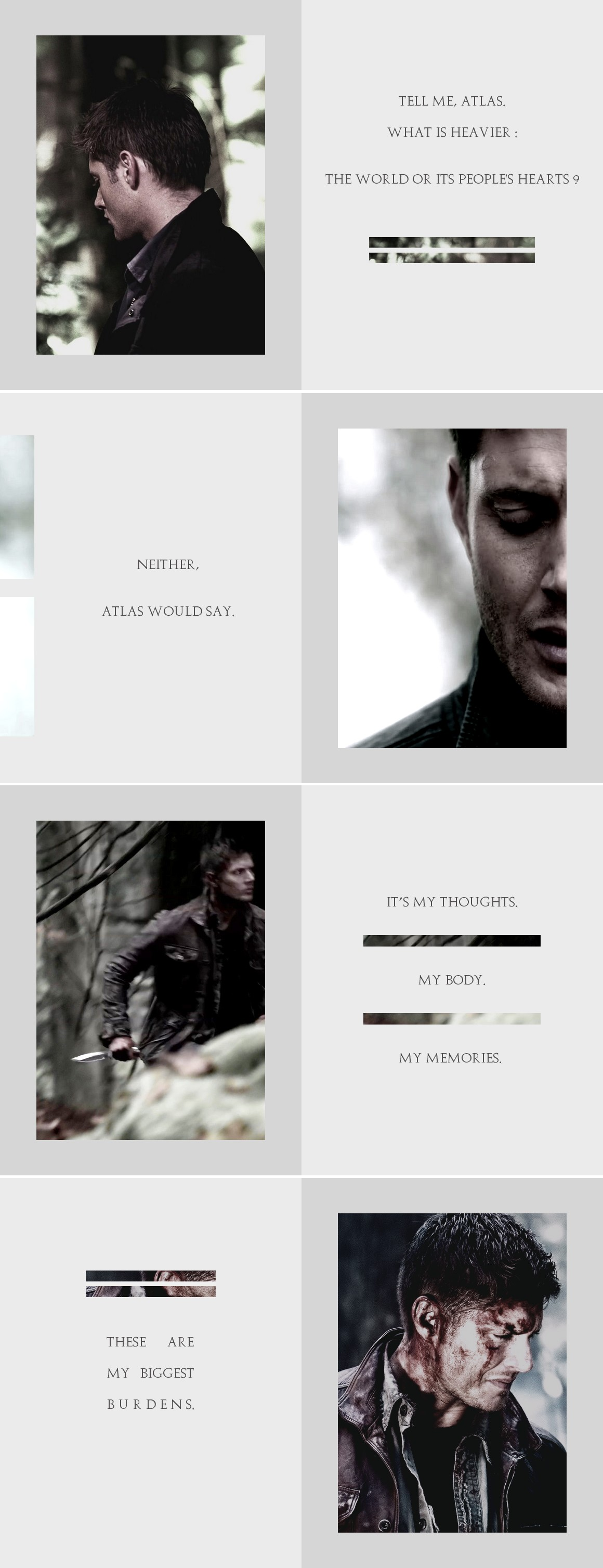 Dean Winchester: Atlas still stands but does anyone else ? #spn