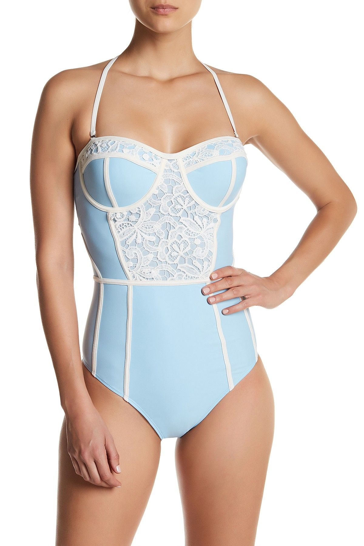 98e2bc8bd1 Marilyn Monroe Swim | Colorblock Crochet Lace One Piece | Products ...