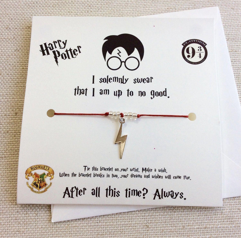 Wish Bracelet Harry Potter Friendship Wish Bracelet Glasses Charm Best Friend