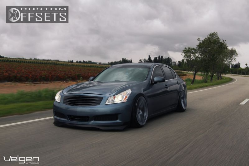 Wheel Offset 2007 Infiniti G35 Slightly Aggressive Dropped 3 Custom Rims Infiniti Custom Sedan
