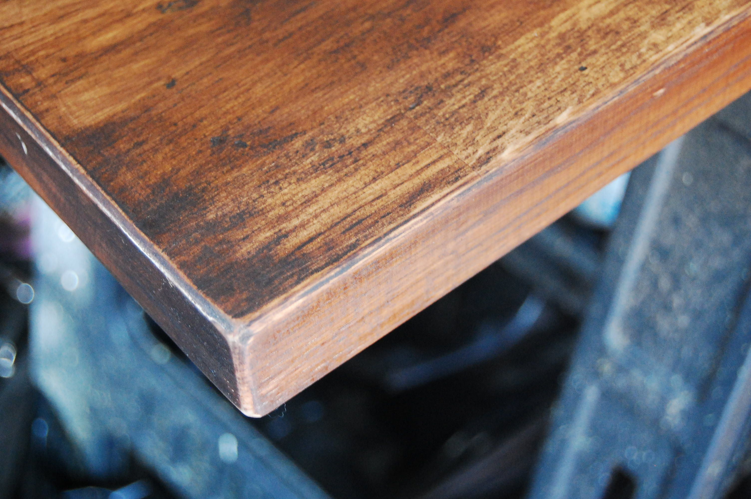 Distressed Butcher Block Counters How To Distress Wood Wood