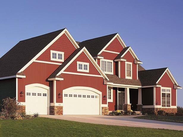 26 Garage Door Designs Interior Remodeling Hgtv Remodels Exterior Siding Red House Exterior Siding Options