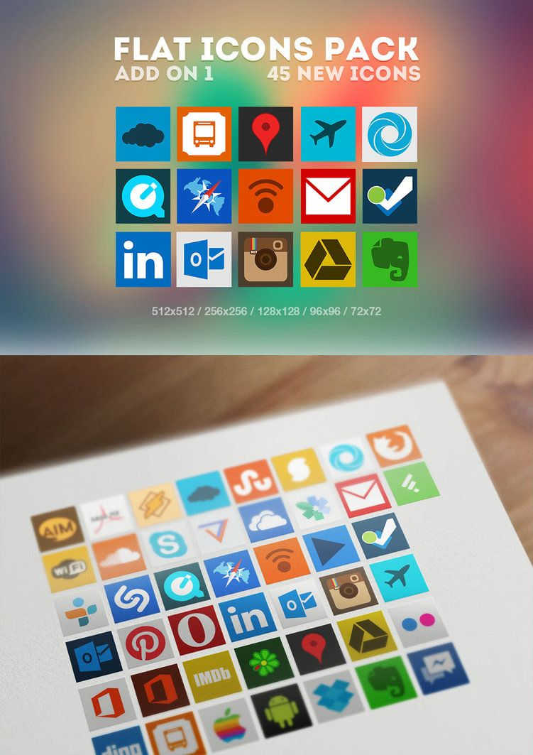 Flat Icons Pack Add on 1 by Martz90 Flat icon, Icon pack