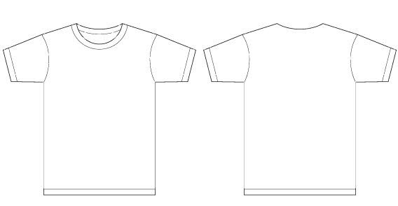 Men t shirt template vector t shirt templates for Clothing templates for illustrator