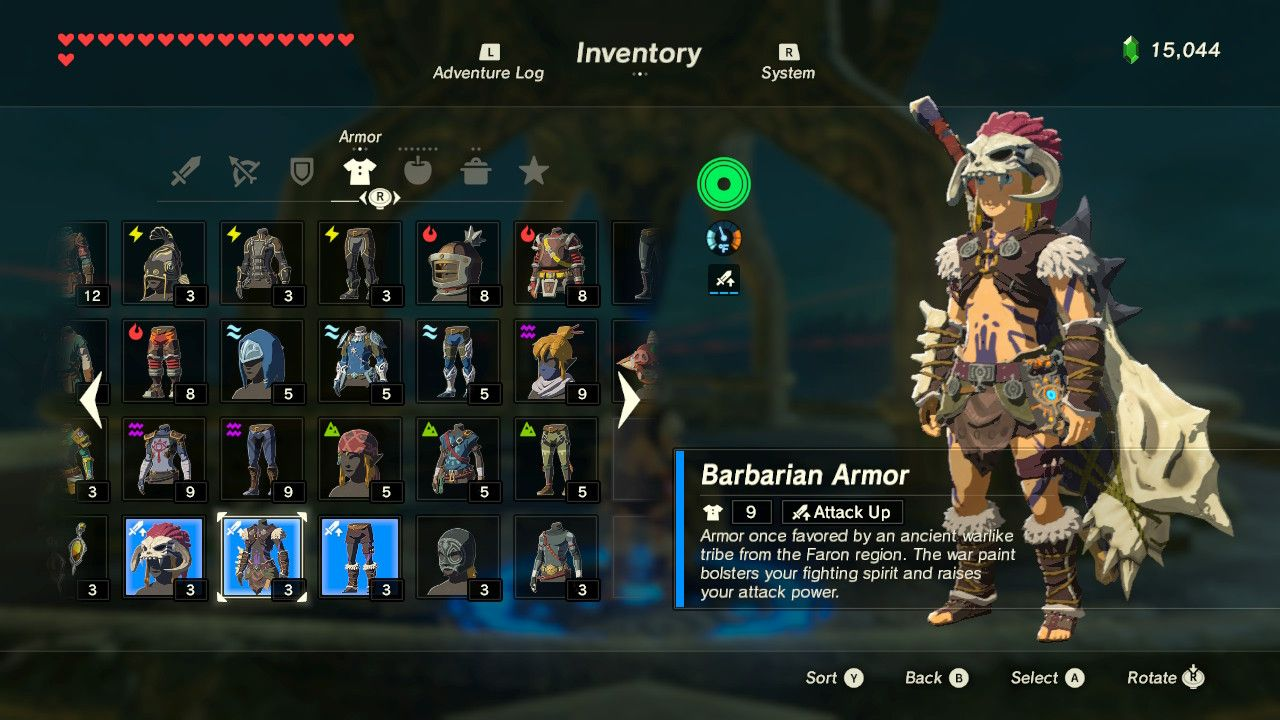 Armor In Legend Of Zelda Breath Of The Wild Is Pretty Awesome And To Help Get You Kitted Out For Every E Breath Of The Wild Best Armor Legend Of Zelda