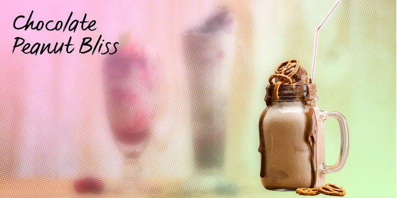 Chocolate peanut bliss shake recipe by Bidfood UK peanut bliss shake recipe by Bidfood UK