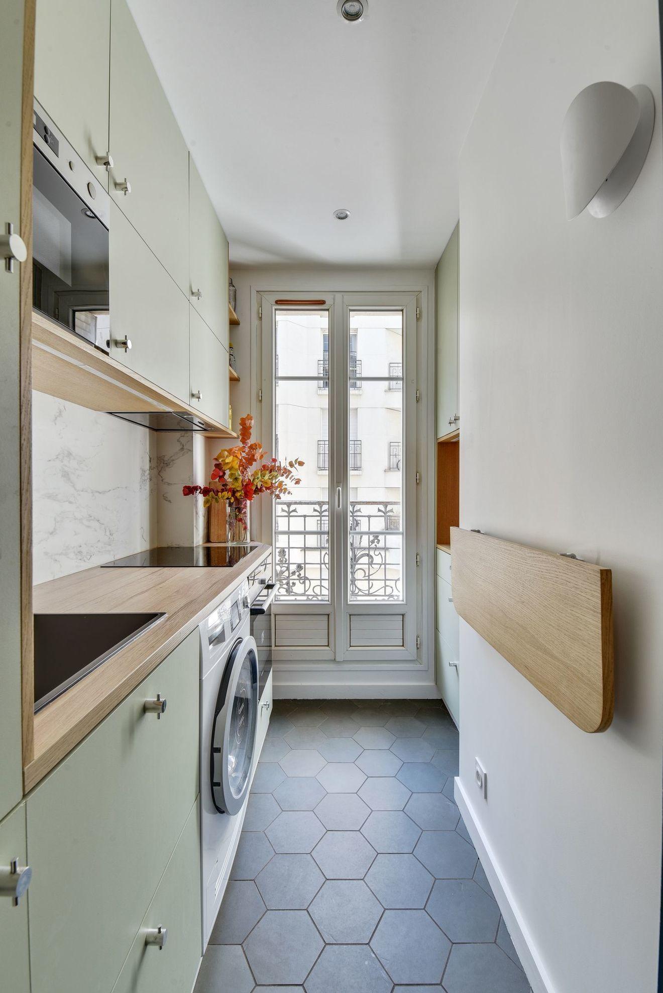 Appartement Paris 18 : 37 m2 avec rangements sur mesure