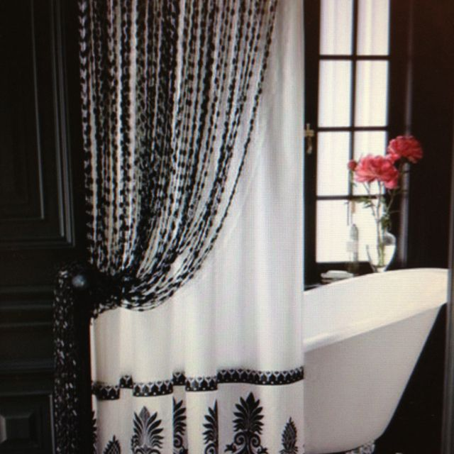 Black Lace Shower Curtain Drapery Designs Lace Shower Curtains