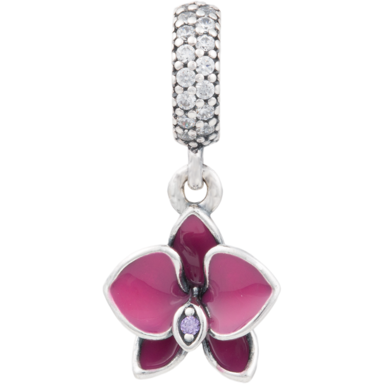 Pandora Jewelry Llc: Orchid Charm, PANDORA Charm, Pendant, 791554EN69