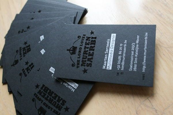 Spot gloss black business cards printing finishes spot gloss black business cards reheart Images
