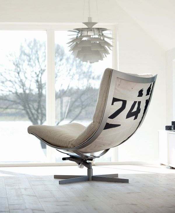 Lounge Chair Built From Used Boat Sails. Very Cool :)