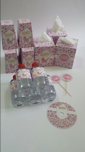 Baby Babyshower Bottle Tissue Toppers Pink Stick Uae Design Box Giftbox Elegantbox Gift Box Design Gifts Gift Box