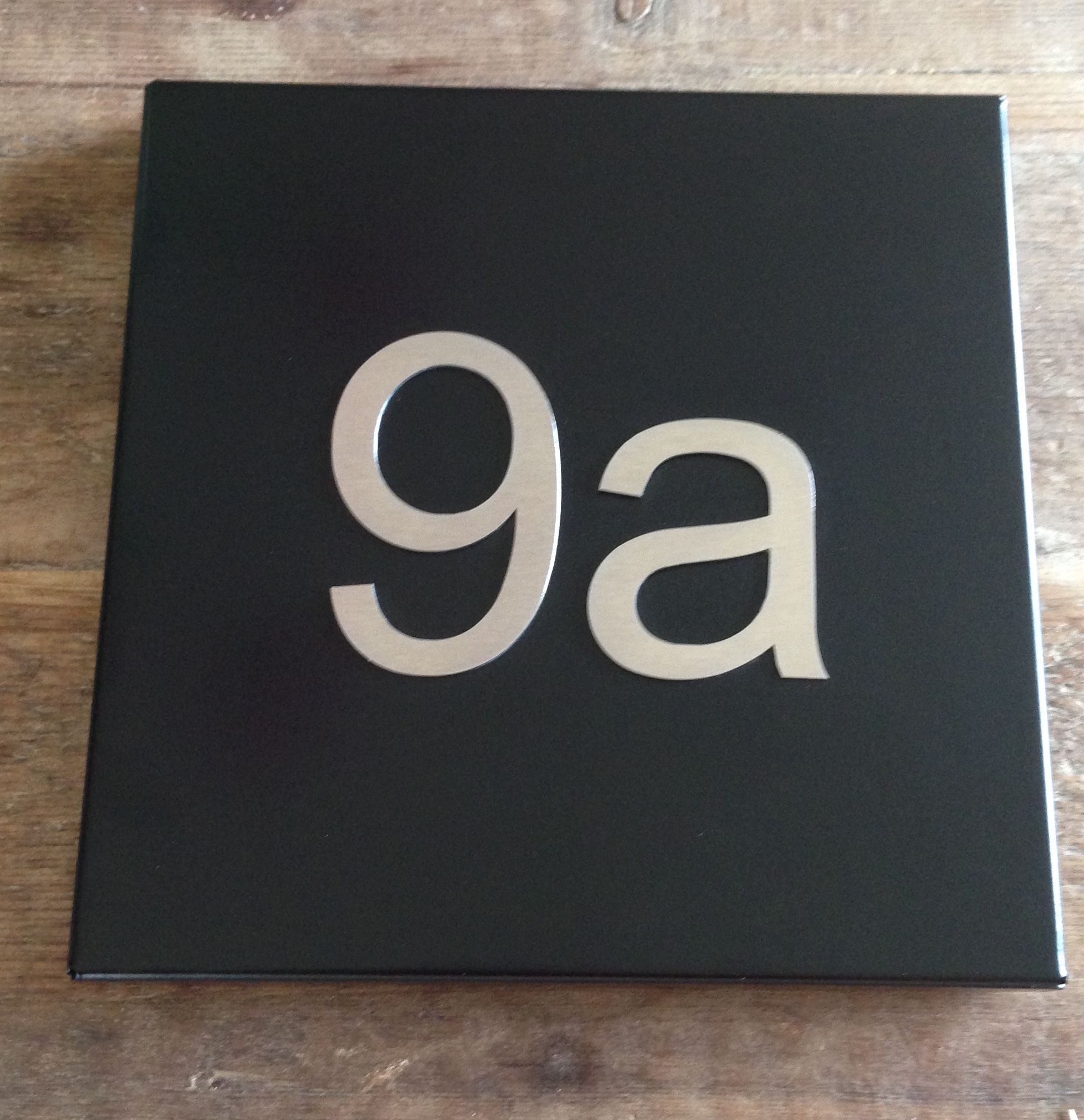 Traditional Steel House Number Plate Black